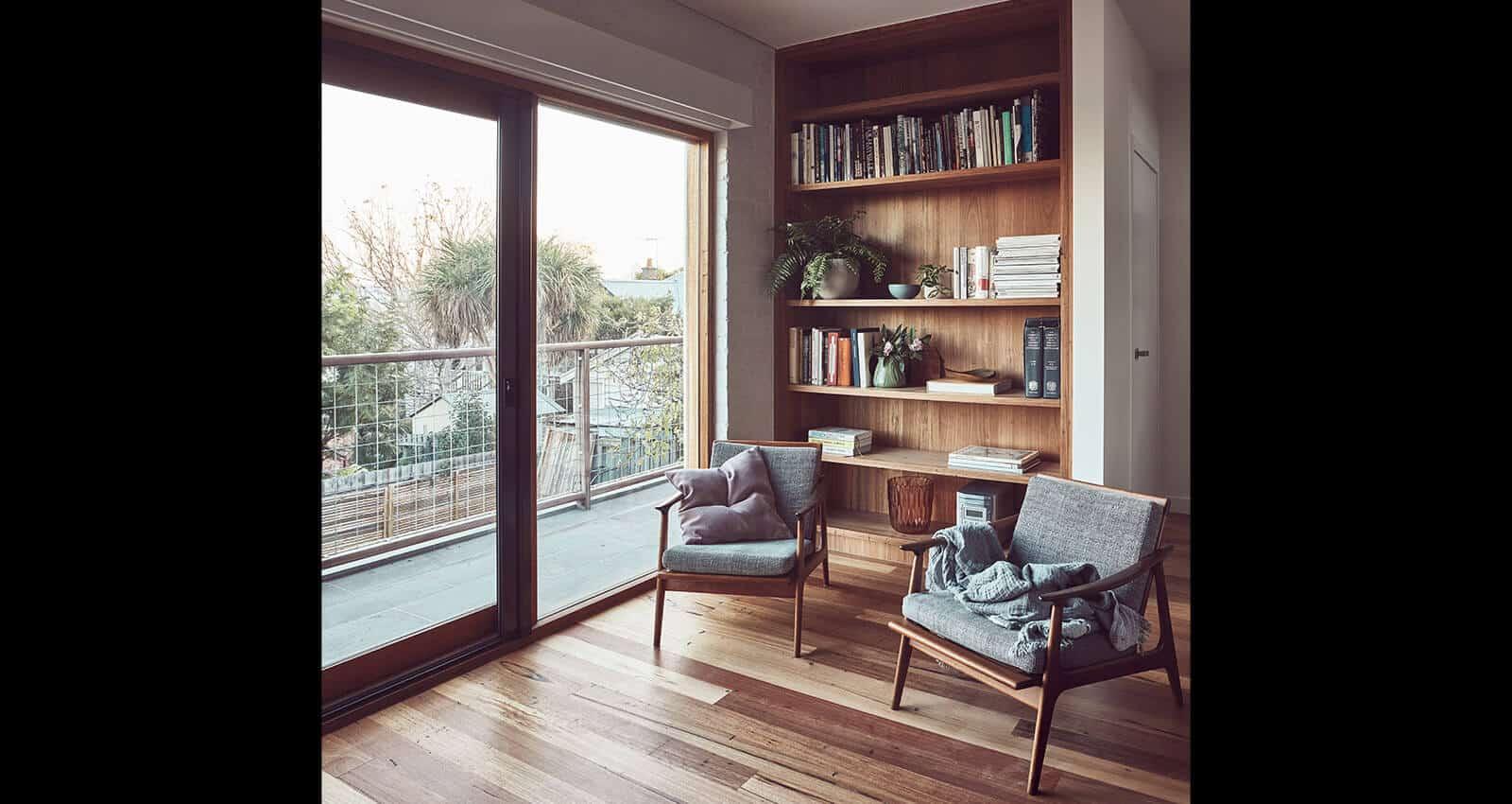 Clifton Hill home study interior